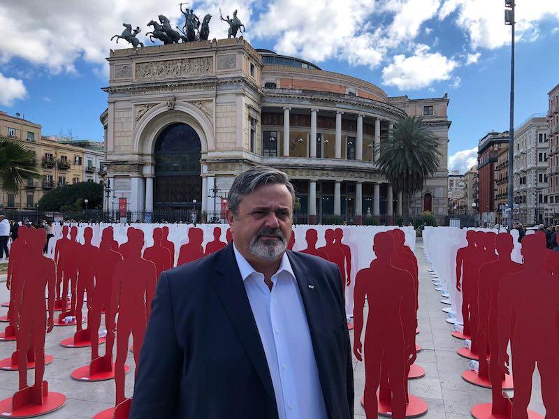 Paolo Capone Leader UGL a Palermo con Lavorare per vivere
